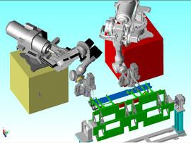 3D設計:ロボットシミュレーション
